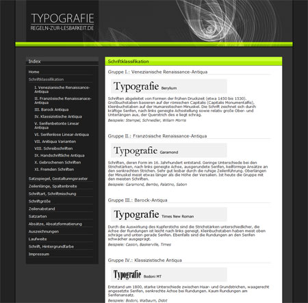 Typografie - Regeln zur Lesbarkeit